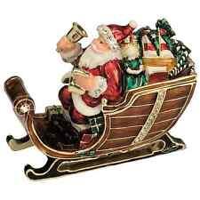 Craycombe Trinkets Santa with Sleigh Bells Pewter Trinket Box 7cm 6037 RRP£29.50