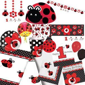Ladybug Ladybird Party Tableware, Decorations & Balloons