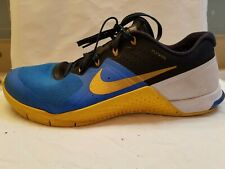 Mens Nike Metcon 2 Cross Training, Running, Sneakers Blue Black Gold Size 11