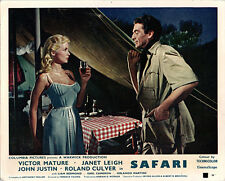 SAFARI ORIGINAL BRITISH LOBBY CARD VICTOR MATURE JANET LEIGH COLOR