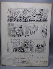 John Tinney McCutcheon Original Political Cartoon Drawing Illustration Art 1942