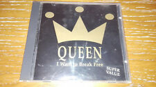 QUEEN RARITA' y 1993 CD I want to break free FREDDIE MERCURY ON STAGE MADE ITALY