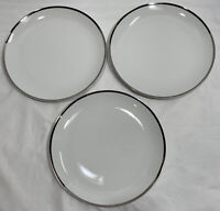 "(Set of 3) Cordon Bleu Solitaire 6943 Round Dinner Plate(s) 10 1/4"" Fine China"