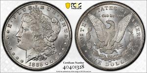 1885-CC MORGAN DOLLAR NICE WHITE ORIGINAL - PCGS-64 CAC ozx