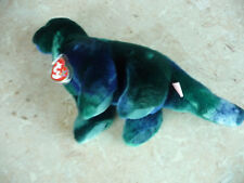 "NEW!! TY BEANIE BUDDY ""BRONTY"" THE BRONTOSAURUS, 1999, RETIRED, MWT"