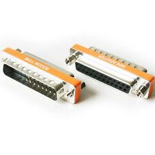 25 manière RS232 mâle vers femelle adaptateur / convertisseur Socket-série Null Modem DB25 Pin