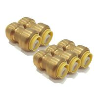 (Pack of 5) 1/2 inch x 1/2 inch SharkBite Style, Coupling Fittings, Lead Free