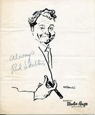 RED SKELTON ACTOR IN DU BARRY WAS A LADY SIGNED MOULIN ROUGE PROGRAM AUTOGRAPH