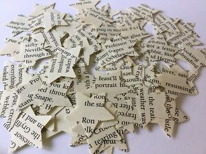 100 Vintage/ Shabby Chic Harry Potter Star Table Confetti