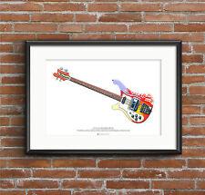 Paul McCartney's 1964 Rickenbacker 4001S Bass ART POSTER A2 size