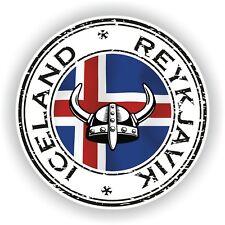 Seal Sticker of Iceland Reykjavik Stamp Bumper Roundel Laptop Car