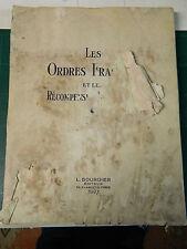 LES ORDRES ET LES RECOMPENSES NATIONALES 1927