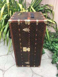 LOUIS VUITTON MALLE Wardrobe Monogram Steamer Trunk chest purse bag LV antique 2