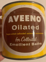 Vintage Unopened NOS sealed Key Open Wind Aveeno Oilated Oatmeal Bath Tin 1950s