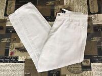 MISGUIDED RIOT UK 14 white mom jean 32W 28L pure cotton