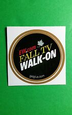 "EW FALL TV WALK-ON EW.COM TITLE NAME TV GETGLUE GET GLUE SM 1.5"" STICKER"