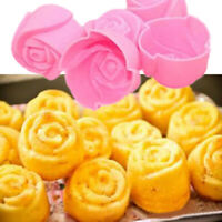10Pcs Silicone Rose Flower Muffin Cookie Cup Cake Baking Mold Maker Mould
