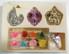 Sailor Moon Jewelry Kit - 3x Pendant 8x Beads - Complete in DAMAGED Box Japan