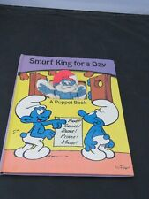 1983 Smurf King for a Day puppet book - Vintage - Peyo