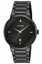 Citizen BI5017-50E Men's Black IP Stainless Steel Black Dial Analog Dress Watch