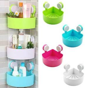 Suction Corner Rack Shelf Organizer Caddy Storage Bathroom Shower Wall Basket UK