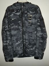 EUC L LG NIKE FC REAL BRISTOL FCRB CAMO CAMOUFLAGE WATER RESISTANT JACKET SOCCER