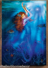 Mermaid Magic Fiber Optic lighted picture by Radiance Lighted Canvas 39660 NEW