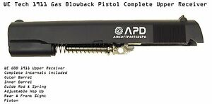 WE Tech 1911 Gas Blowback Pistol Complete Upper Receiver Set Internals Barrel