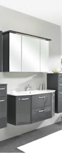 Pelipal Badmöbel Velo 110 cm breit - Glas-Waschtisch SOFORT LIEFERBAR