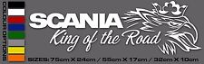 Scania V8 R Line Truck Wagon Lorry External Decal Sticker Griffin King Road