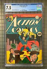 Action Comics #45 CGC 7.5 DC 1942 1st Stuff! Early Superman Cover! L1 201 cm