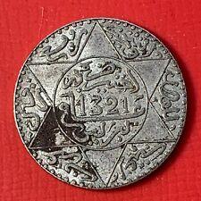 #4931 - MAROC 2½ dirhams Abdelaziz 1321 (1903) TTB+