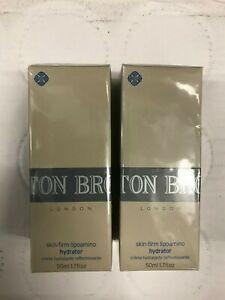 MOLTON BROWN SKIN-FIRM LIPOAMINO HYDRATOR 2 x 50ml BN SEALED BARGAIN
