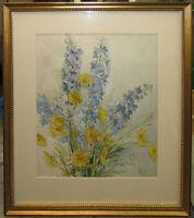 Greta Allen Impressionist Flowers Still Life WC Listed Boston School Artist