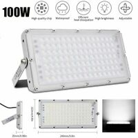 100W LED Flood Light Outdoor Large Area Lighting Lamp Super Bright Cool White