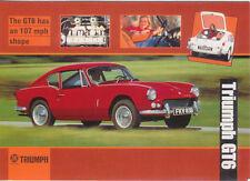 Triumph GT6 1966 Large Format MODERN postcard by Jenna