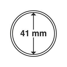 Capsules rondes 41mm, pour pièces de monnaie. Paquet de 10.