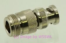 Coax Adapter BNC Male to N Female - by W5SWL ®