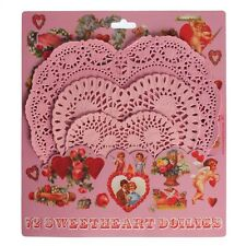 dotcomgiftshop SET OF 72 PINK HEART PAPER DOILIES IN 3 SIZES