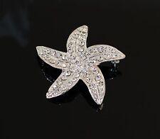 Starfish Bridal Wedding Brooch with Swarovski Crystals