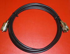 RG58U BASIC PATCH CABLE 0.5mts PMR CB 2 PL259 TEST SWR LEAD ANTENNA 2 WAY