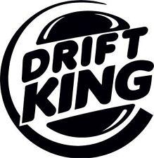 DRIFT KING vinyl GRAPHIC CAR VAN STICKER MANY COLOURS