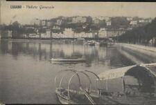 CARTOLINA  LUGANO - VEDUTA GENERALE viaggiata 1911 - ANIMATA - ORIGINALE