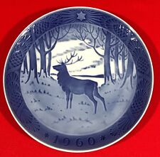 Vintage Royal Copenhagen Christmas Collector Plate,1960, The Stag (Hjorten)