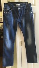 NWOT Liuce's Jeans Size 16 Women's 32.5 Inseam Distressed Embellished