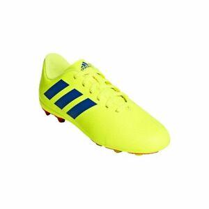 adidas Junior Nemeziz 18.4 FxG Soccer Cleats CM8509 Yellow/Blue/Red