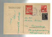 1948 Regensburg Germany Ukranian Displaced Persons DP Camp PC Cover Local Issue