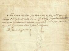 Lettera Autografo Avvocato Agostino Ademollo Scrittore Siena a Gargiolli 1837