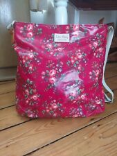 Lim Story Messenger Bag Crossover Body Strap pink/red floral Oil Cloth