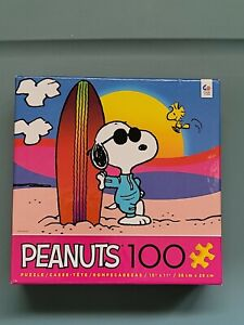 Ceaco 100 Piece Snoopy Peanuts Puzzle - Malibu Surf Kids Jigsaw